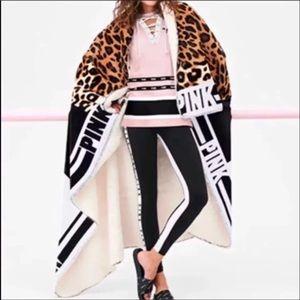 Victoria's Secret PINK Leopard Sherpa Blanket